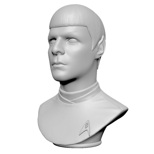 Télécharger fichier 3D Spock de Star Trek Beyond, mochawhale