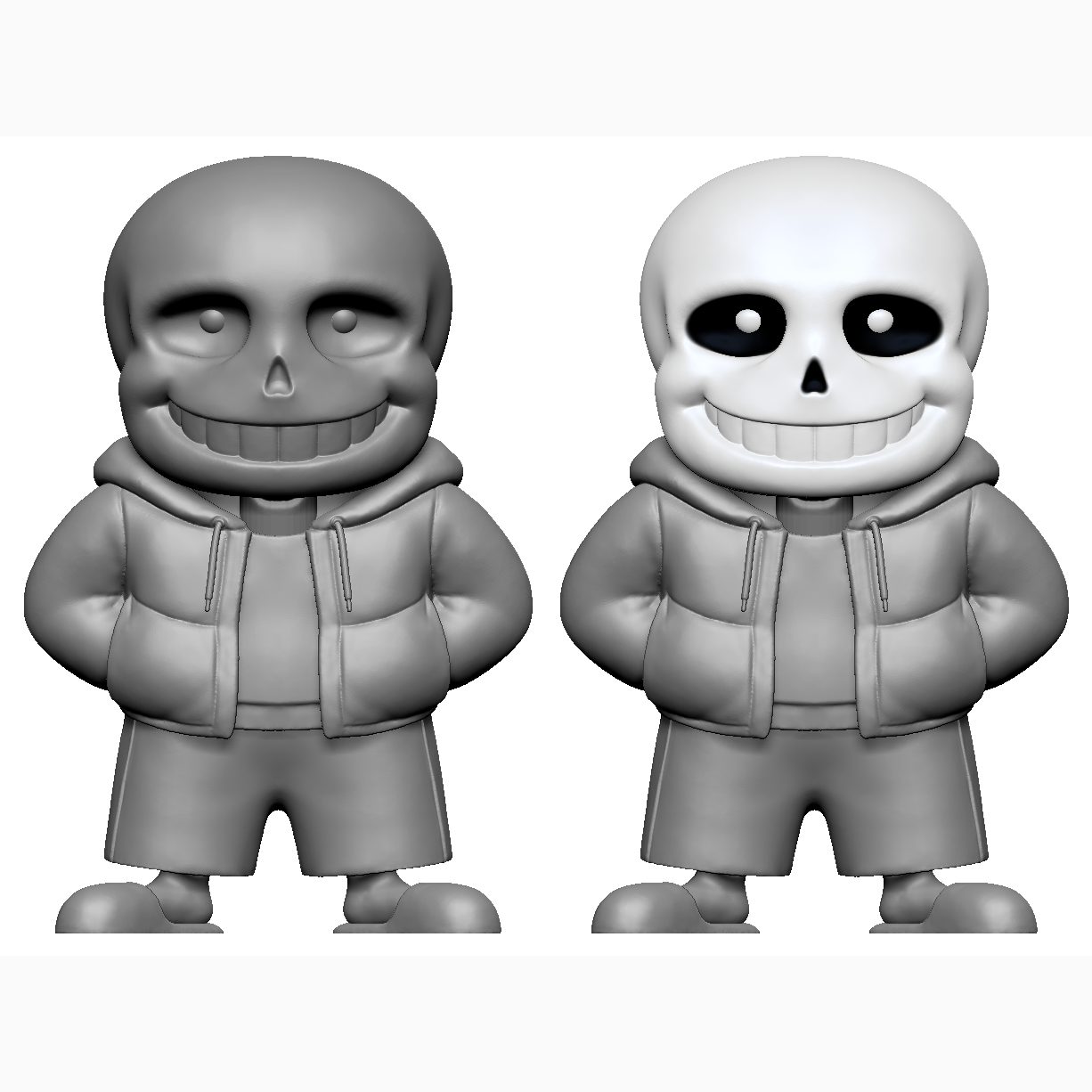 Download Obj File Sans From Undertale 3d Printing Object Cults