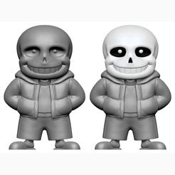 Imprimir en 3D Sans de Undertale, mochawhale