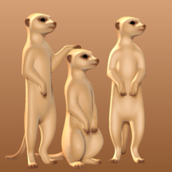 Download 3D printer model Meerkats, mochawhale
