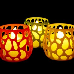 Download STL files Tea Light Holder - Voronoi, mochawhale