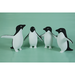 Download 3D printing models Adélie Penguins, mochawhale