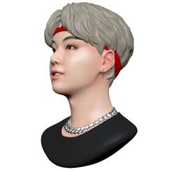 Download OBJ file BTS Suga • 3D print design, mochawhale
