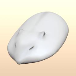 Download STL file Flat hamster (hamster sleeping on hand), mochawhale