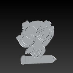 Download 3D printing models cookie cutters owl, Gari001