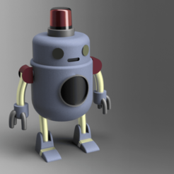HUE v2.png Download free STL file H.U.E. from Final Space • 3D printable object, CubWiFi