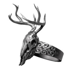 Download STL file Deer Skull Jewelry , AleexStudios_2019