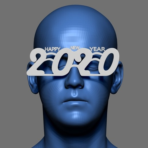Download free STL file Glasses Happy New Year 2020, AleexStudios_2019