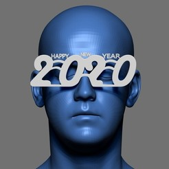 Download free STL file Glasses Happy New Year 2020, AleexStudios_2019