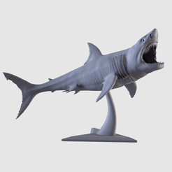 001.png Download STL file White Shark Statue • 3D printing template, AleexStudios_2019
