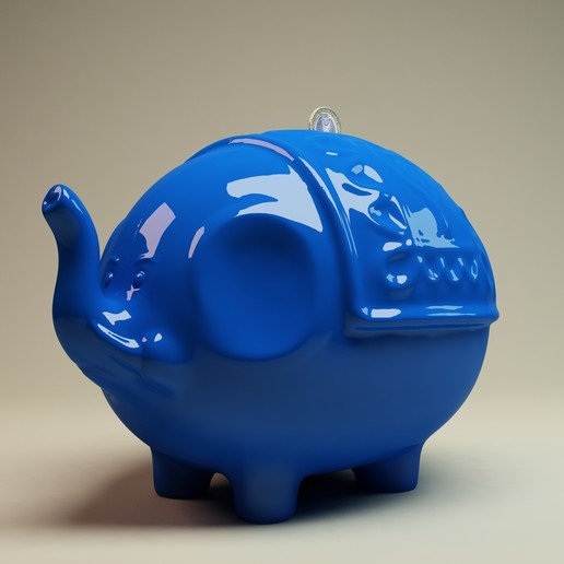 Download 3D printer model Elephant Coin Bank, AleexStudios_2019
