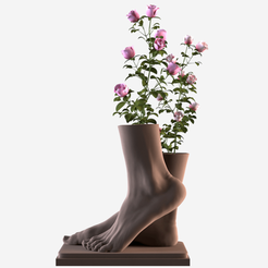 01.png Download OBJ file Foot Vase • Object to 3D print, AleexStudios_2019