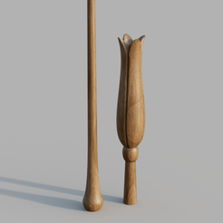 Luna_Lovegood_2019-Nov-09_02-25-28PM-000_CustomizedView192459935.png Download STL file LUNA LOVEGOOD WAND • 3D printable template, Dsema
