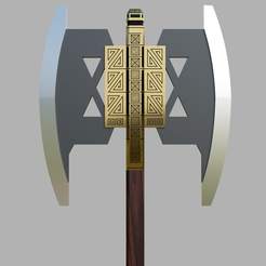 Download STL files Battle Axe of Gimli, Dsema