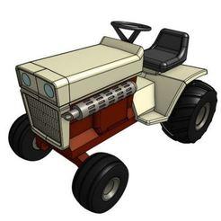 Télécharger objet 3D gratuit Modèle de tracteur de jardin GT3 1/25, goodsons_hobbies