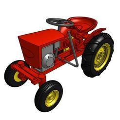 GT12_1.JPG Télécharger fichier STL Modèle de tracteur de jardin GT12 1/25 • Design pour imprimante 3D, goodsons_hobbies