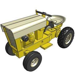 GT5V2.JPG Télécharger fichier STL Modèle de tracteur de jardin GT5 1/25 • Design à imprimer en 3D, goodsons_hobbies