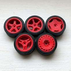 Download free 3D printing models 1:64 Wheels 01-05 Revisited (Size Large), goodsons_hobbies