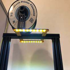 Download free STL 2020 LED Strip Light Mounting Ender 3 and others, goodsons_hobbies