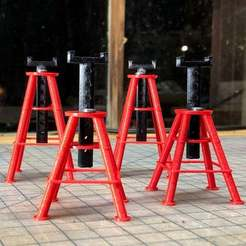 Download free 3D model 1/10 Scale RC 10 Ton Jack Stands, goodsons_hobbies