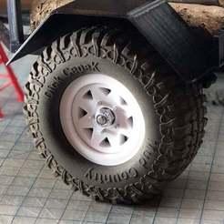 "Impresiones 3D gratis 1.9 Rueda Beadlock 13 Versión de remolque ""Wagon Wheel, goodsons_hobbies"