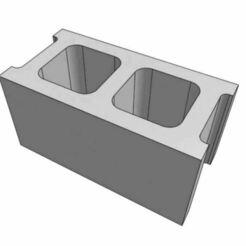 CBlock.JPG Télécharger fichier STL gratuit Bloc de béton / Bloc de cendres • Design pour impression 3D, goodsons_hobbies