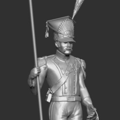 LancierV2-02.jpg Télécharger fichier STL Lancier 1er Empire sur Pieds - Lancer 1st Empire standing (V2) • Design pour impression 3D, ChrisThor