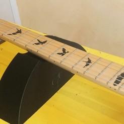 "Descargar Modelos 3D para imprimir gratis Inlays para mástil de guitarra tipo ""Birds"" guitarra, ChrisThor"