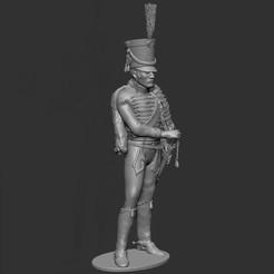 HusStand01.jpg Download OBJ file Hussar 1st Empire - standing. • 3D print object, ChrisThor
