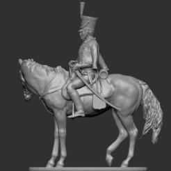 CvHuss01.jpg Download OBJ file Napoleon - Hussar à Cheval • 3D printer model, ChrisThor