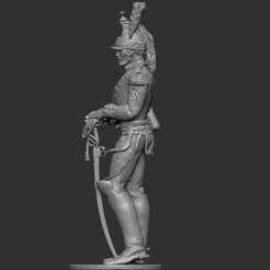 Télécharger fichier OBJ Cuirassier 1er Empire - sur Pieds. • Objet imprimable en 3D, ChrisThor