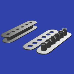 Descargar archivos STL gratis Humbucker Coil Holder - Fabricante de guitarras, ChrisThor
