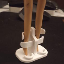 base_muñecas_barbie.png Download STL file Barbie doll base • 3D printable model, alfr3design