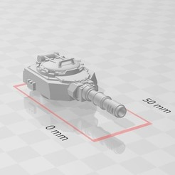 my turret cannon.jpg Download free STL file Turrets for Bulldog APC variants • 3D printable template, Kalechaoslord