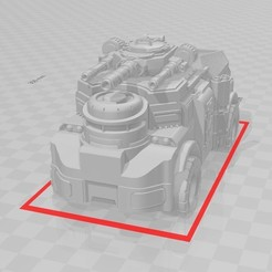 Mastiff v2.jpg Download free STL file Mastiff v2 - centered turret • 3D print object, Kalechaoslord