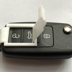 Car_Key_Fob Flip Cover.jpg Télécharger fichier STL gratuit Protection des porte-clés de voitures VW avec couvercle rabattable • Plan pour impression 3D, amp3D