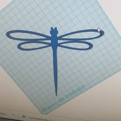 Download STL file Key ring Dragonfly, luis_Vazquez