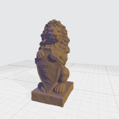 Télécharger modèle 3D gratuit sculpture de bouclier de lion modèle 3d, redline654