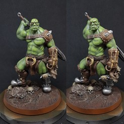 Download STL files Savage Orc Warrior, AijouART