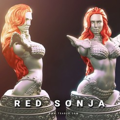 Download STL files Red Sonja Bust - 3d print, Tdsaber