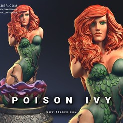 Download 3D printing models Poison Ivy Bust, Tdsaber
