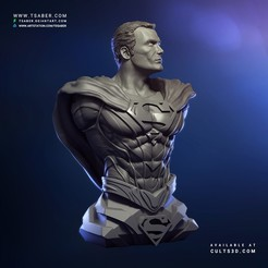 Superman Bust Cults3d 01.jpg Download STL file Superman bust - 3d print collectibles • 3D printer template, Tdsaber