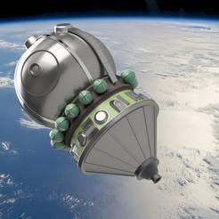 "Vostok_1.jpg Download STL file spacecraft ""vostok 1"" model kit • 3D printing template, NikiEm"