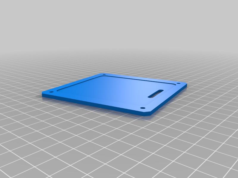 keypad-base.png Télécharger fichier SCAD gratuit Couverture pour clavier à membrane 4x4 • Plan imprimable en 3D, t0b1