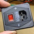 Download free SCAD file Fused C14 switch box • Template to 3D print, t0b1
