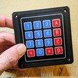 keypad-mount-002.jpg Télécharger fichier SCAD gratuit Couverture pour clavier à membrane 4x4 • Plan imprimable en 3D, t0b1