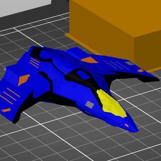 Eagle_MMU.JPG Download free STL file Eagle Multi Colour/Material (Elite Dangerous) • 3D print object, Kahnindustries