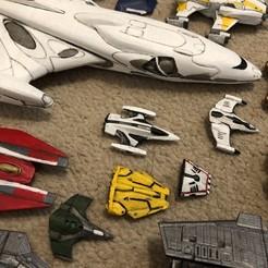 Download free STL file Imperial Courier 2 Part (Elite Dangerous) • 3D printer model, Kahnindustries