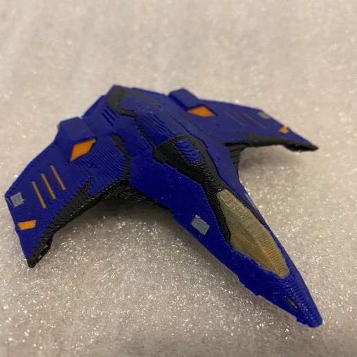 Eagle_MMU_Printed.jpg Download free STL file Eagle Multi Colour/Material (Elite Dangerous) • 3D print object, Kahnindustries