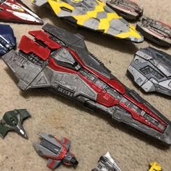 Download free STL file Federal Corvette 2 Part (Elite Dangerous) • 3D printable design, Kahnindustries